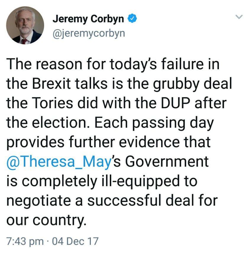 Corbyn DUP
