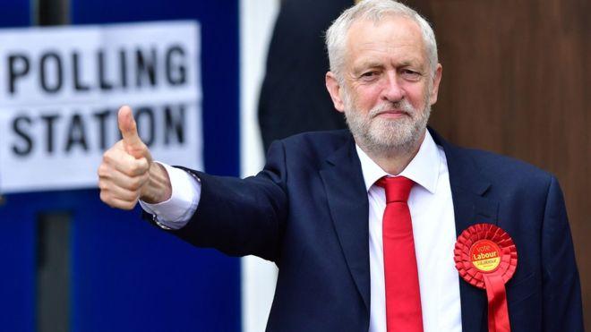 Corbyn Thumbs Up